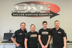 Mike Jones (left) and Kevin Adds (right) of Sodi Kart USA / Dallas Karting Complex with Mark and Jake French (Photo: DallasKartingComplex.com)