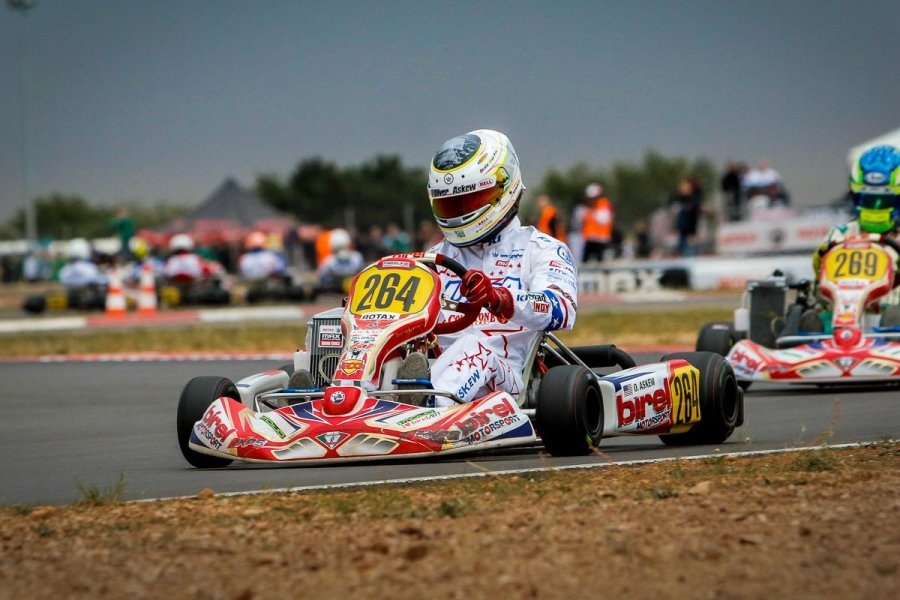 Askew lead Team USA in the Senior Max category at the Rotax Grand Finals (Photo: Ken Johnson - Studio52.us)