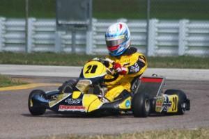 AJ Myers became the inaugural Stock Moto race winner (Photo: Florida Karting Photos)