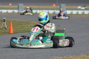 Florida driver Dustin Stross charged his way forward to the IAME Parilla Leopard victory (Photo: Florida Karting Photos)