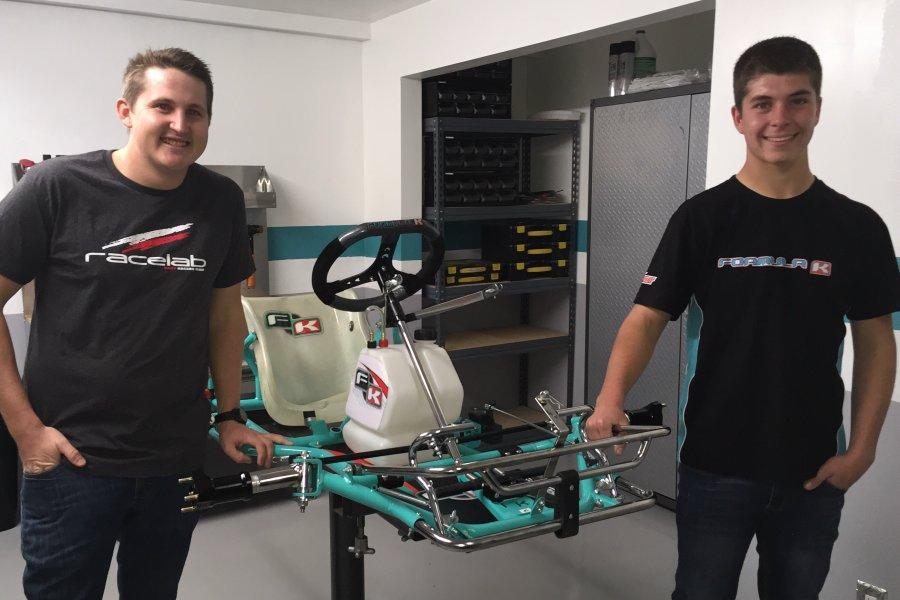 Jake Craig (r) will pilot a Formula K under the RaceLab banner with Kyle Kuntze
