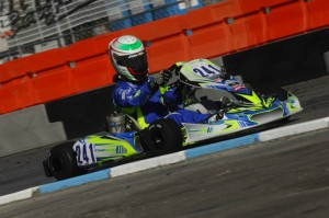 Braden Eves driving the Compkart in Las Vegas (Photo: On Track Promotions - otp.ca)