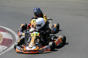 Dylan Smith and Connor Wilson are close in one of the Formula Junior race (Photo: Fast Company/Emilee Wright)