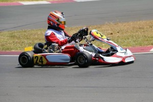Auckland karter Graeme Smyth was the big winner in the KZ2 class at the Lightning Racegear City of Sails kart race meeting in Auckland over the weekend (Photo: Fast Company/Emilee Wright)