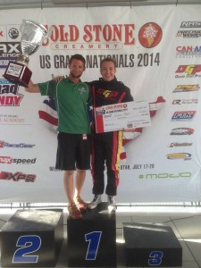 Boswell helped Nick Neri earn the 2014 US Rotax Grand Nationals title in DD2