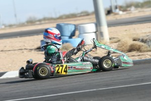 Nick Brueckner piloted his Orsolon Racing Tony Kart to victory at the Rotax Challenge of the Americas (Photo: eKartingNews.com)