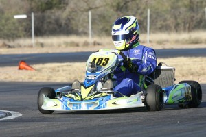 A dramatic last lap pass by Michael Ilavia in DD2 gave CompKart a memorable first victory (Photo: EKN)