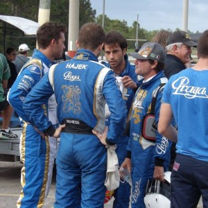 Formula 1 driver Felipe Nasr along with Praga's Peter Hajek (Photo: Florida Pro Kart Series)