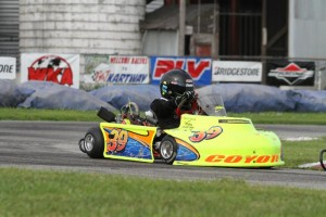 Josh Stark races WKA Gold Cup at Ohio's G&J Kartway in July 2014 (Photo: Double Vision Photography)