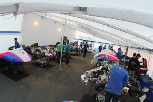 The new RPG tent was full at the Rotax Challenge of the Americas opener (Photo: eKartingNews.com)