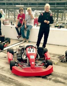 Lindsay on the grid at Daytona