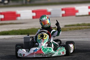 Anthony Gangi Jr. scored the Sunday Rotax Junior win in Homestead (Photo by: Cody Schindel/CanadianKartingNews.com)