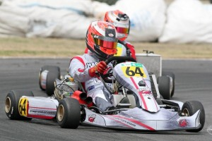 KZ2 class stalwart Ryan Grant (#64) was back to his winning best at the second ProKart Series round in the Hawke's Bay over the weekend (Photo: Fast Company/Graham Hughes)