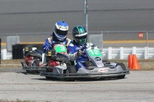 Trey leading fellow solo driver Ryan Dyer through the chicane early in the race (Photo: Perry Herndon)