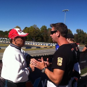 Lake Speed and Alan Rudolph talk during the 2014 Rotax Pan American Challenge (Photo: EKN)