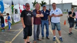 Biggs with Tom Kutscher of SKUSA, Felix Rovelli of IAME, and Petr Ptacek of Praga