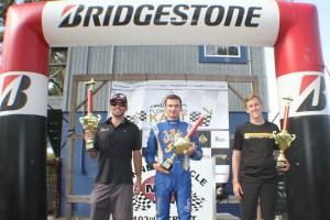 Open Shifter championship podium with title winner Patrik Hajek (Photo: Double Vision Photography - Carl Barnes)
