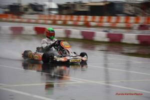 Russian driver Igor Mukhin won the rain-soaked DD2 Masters Final (Photo: Florida Karting Photos)
