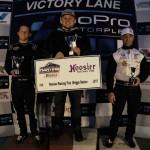 Hoosier Racing Tire Briggs Senior Division Top-3 Champions of the Day: Josh Wilson, Ryan Shattuck, Reinaldo Moloon