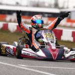 Guilherme Peixoto gave RPG its first Florida Winter Tour victory of the year, taking the checkered flag in Junior Rok (Photo: Cody Schindel / CanadianKartingNews.com)