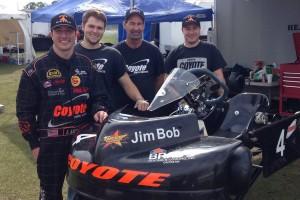 Meier (right) with his Coyote teammates - owner Jim Lipari and driver Patrick O'Neal (Photo: Jim Lampari)
