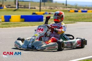 Christian Brooks was the man in Rotax Senior on Saturday