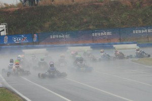 Wet and wild was the scene on Saturday at GoPro Motorplex, delaying things over an hour due to extended lap times and multiple pick-ups