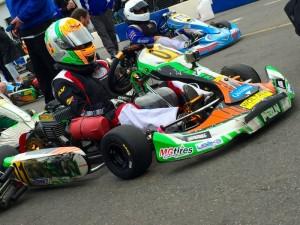 Lemke on the grid Sunday at GoPro Motorplex (Photo: NCRM)