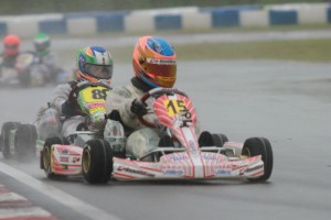 Nicholas d'Orlando was promoted to the top of the podium in Mini Rok Cadet after tech (Photo: EKN)