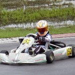 Jak Crawford is now in command of two different national title chases leading the points in both the  US Open Rotax Mini Max class and the Superkarts! USA TaG Cadet division. (Photo: Nikki Sams Crawford)