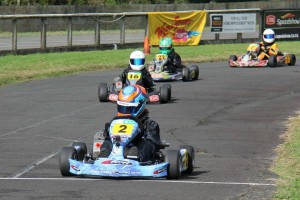 Asten Addy (#2) on his way to another Cadet ROK class win in Whangarei (Photo: Fast Company/Alice Addy)