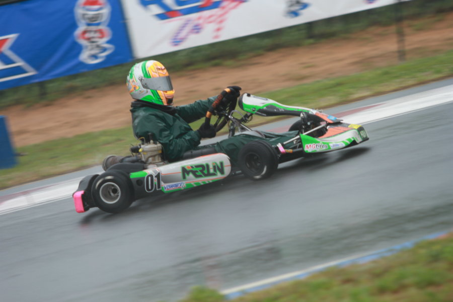 Lemke driving to victory in the Leopard Junior class on Saturday at the USPKS opener (Photo: EKN)