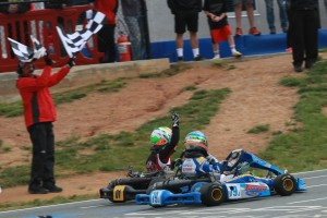 Lemke edged out Malukas for his second straight USPKS Leopard Junior victory at GoPro Motorplex (Photo: EKN)