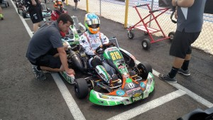 Getting ready to hit the track with Franklin Motorsports / Merlin chief Jamie Sieracki waiting alongside (Photo: K Kalish)