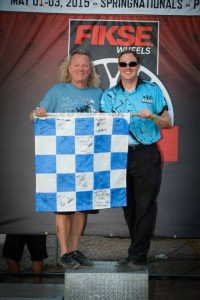 SKUSA CEO Tom Kutscher was one of three Blue Flag drawing winners (Photo: On Track Promotions - otp.ca)