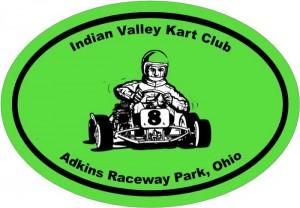 Indian Valley Kart Club logo-white