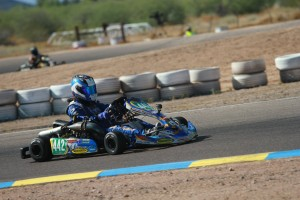 Callum Smith never put a wheel wrong all weekend, earning a second victory in S5 Junior (Photo: EKN)