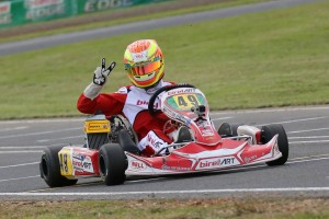 BirelART driver Brad Jenner claimed a pair of victories during Round Two of the Australian Kart Championship (Pic: Coopers Photography/Davidson)