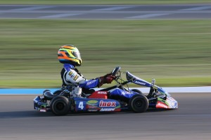 Harrington Doyle Racing Arrow karts driver Scott Sorensen won KF2 (Pic: Coopers Photography/Davidson)