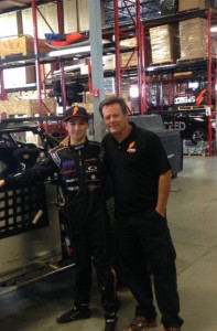 Russell Boyle, pictured here with Robby Gordon, will make his Stadium Super Truck debut this weekend in Toronto (Photo: Phil Boyle)