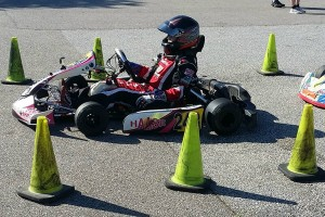 Lamberth readies himself in his Haase chassis on the grid at Carolina Motorsports Park (Photo: Brandy Lamberth)