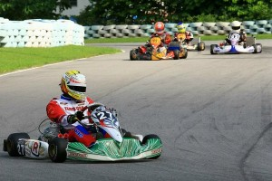 Castaneda piloting the Tony Kart/Vortex package