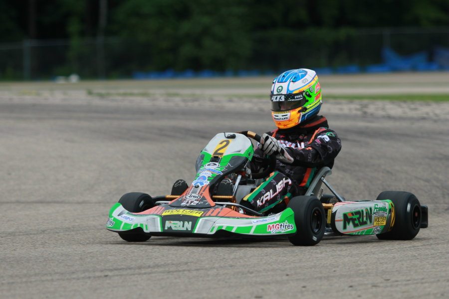 Kalish goes back to his roots, racing Yamaha at the USPKS Shawano event (Photo: EKN)