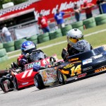 Matt Miller races Junior Pro Gas Animal competitors at the June 5-7 WKA Gold Cup Nationals at Carolina Motorsports Park (Photo:  Double Vision Photography)