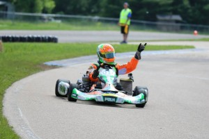 Brandon Lemke notched his first Leopard Senior win on Sunday, adding to his Yamaha Senior victory on Saturday (Photo: Kathy Churchill - Route66kartracing.com)