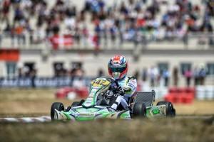 Francesco Celenta aboard his Parolin chassis at the CIK-FIA European KZ2 Championship event in Zuera, Spain (Photo: Parolin Racing)