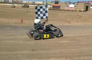 Rob Marion picked up his second Perris Auto Speedway win in a row last Saturday at the So Cal Oval Karters event (Photo: So Cal Oval Karters)