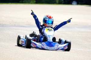 Lachlan DeFrancesco scores a dominant victory in Mini ROK (Photo: Energy Racing)
