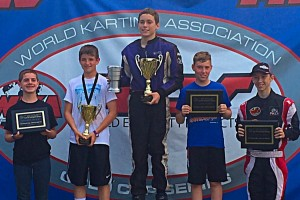 Kalb on top of the podium for one of his three victories at Kershaw (Photo: Kalb Family)