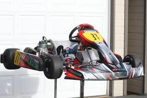 Howden's steed for the weekend, the Italkart Rapido V1 (Photo: EKN)